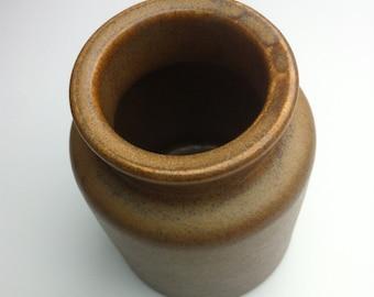 Vintage sandstone mustard pot