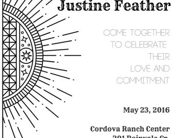 Bohemian Ranch Wedding Invitation PDF Download