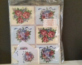 Elegant Vintage Needlepoint Look Wrapping Paper and Note Cards