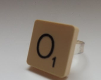 scrabble tile ring '' adjustable