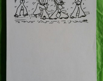 Hippy dancers A6 notepad