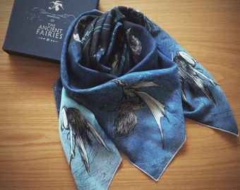 The Awakening Of The Ancient Fairy scarf (and shawl)