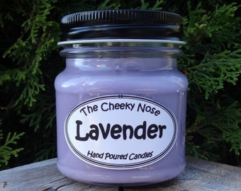 Lavender Candle, Lavender Soy Candle, Scented Lavender Candle, Soy Wax, Purple Candle, Soy Wax Candle, Spa Candle, Aromatherapy, Soy Candle