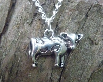 Dairy Cow Necklace, Cow Jewellery, Gift for Dairy Farmer, Cow Lover, Farming Gift, Countryside Gift, Farm Animal Jewellery
