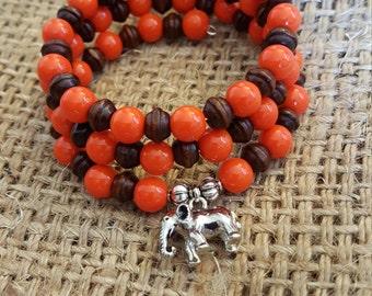 Orange Elephant Bangle