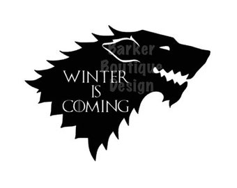 Winter is Coming Decal - Game of Thrones