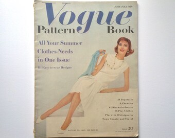 Vogue Pattern Book June - July 1958