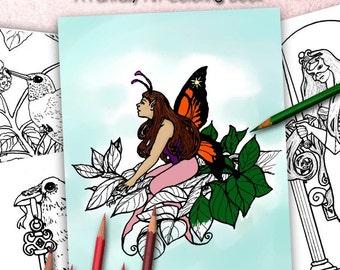 Mythic Themes - A Fantasy Art Coloring Book