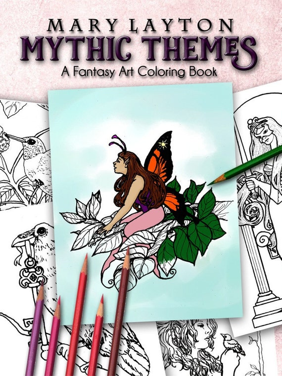 Mythic Themes - A Fantasy Art Coloring Book