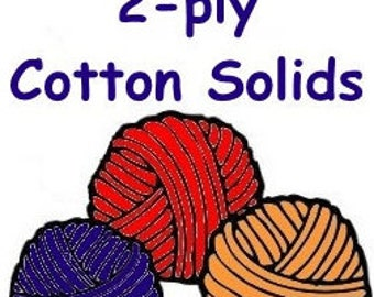 "SOLID color cotton ""2-ply"" lace weight to coordinate with Bre-Aly Gradients"