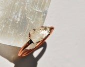 Raw Crystal Quartz Ring, Alternative Engagement Ring, Organic Natural Stone Ring , Raw Stone Ring