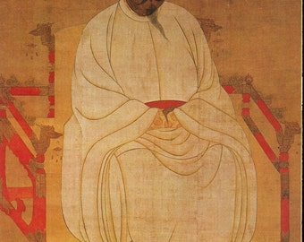 Chinese Emperor T'ai-tsu - Vintage Chinese Art History Page to Frame or for Paper Arts