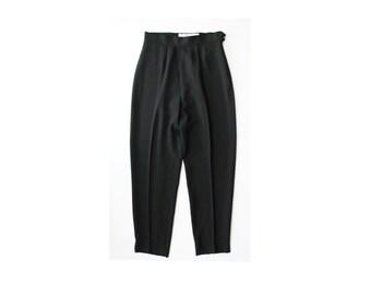 1980's C' Est Commeca Black High Waist Slacks Pants