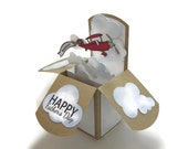 Father's Day Card - Pop Up Card - Happy Birthday Card - Vintage Airplane - Gift - World's Best Dad - Grandfather Greeting Card -