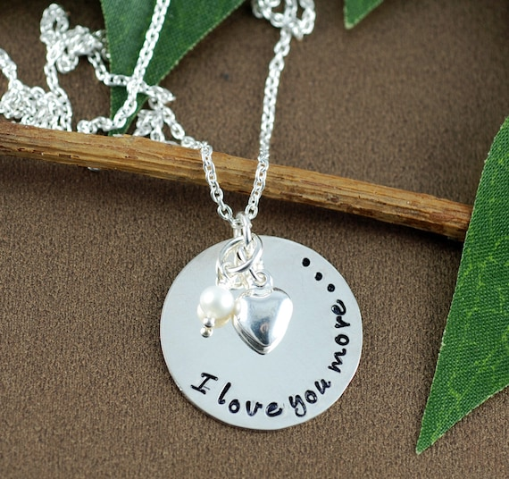 Love you more personalized necklace