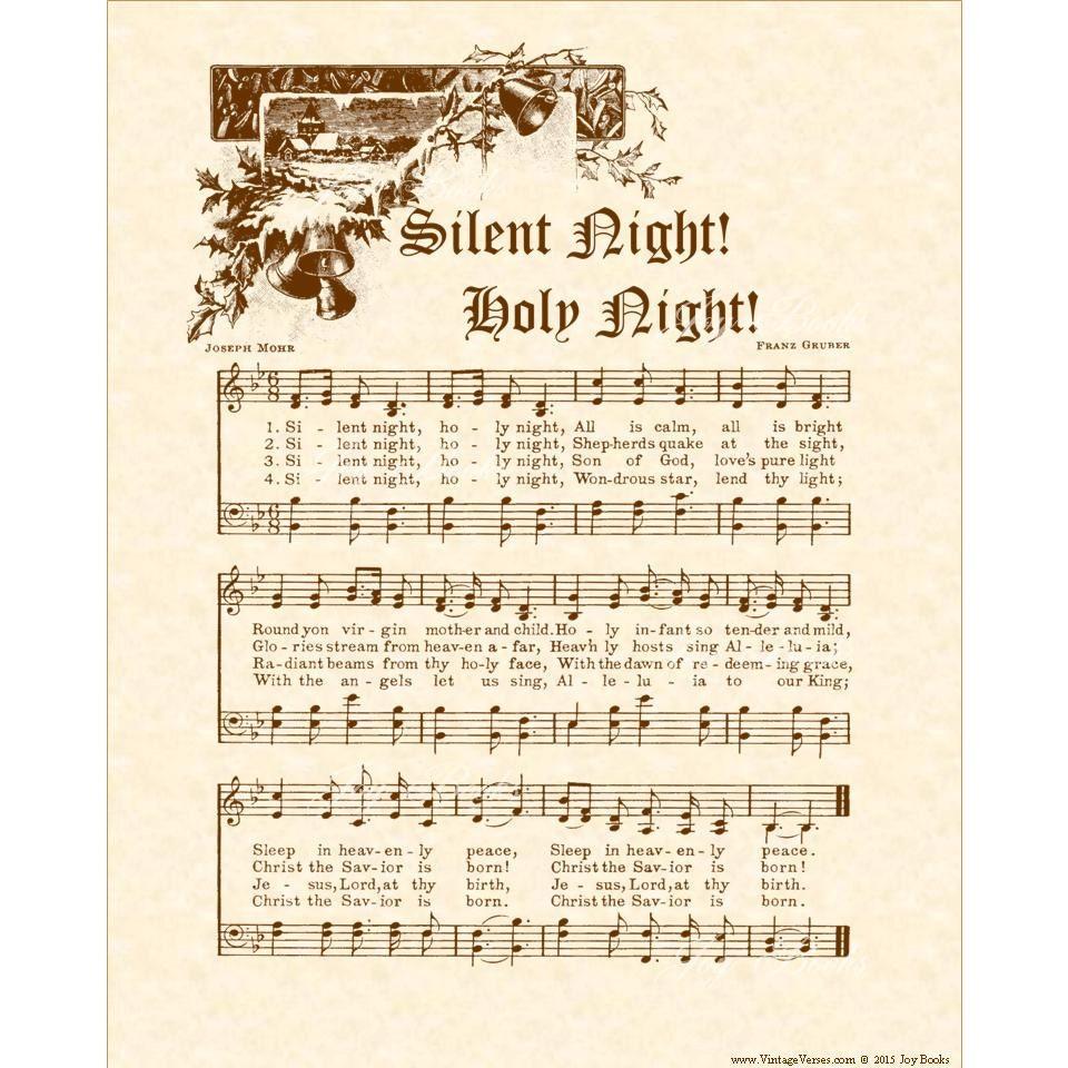 Silent Night Holy Night Custom Christian Home Decor
