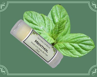 MENTHOL Lip Balm made with Shea Butter - .15oz Oval Tube
