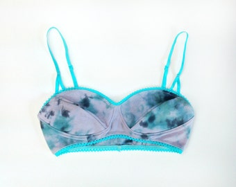 Teal Nebula Structured Bralette in Organic Cotton