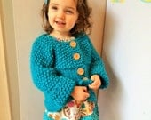 Child Knit Sweater, Sweater Size 1 - 18 Months, Child Wool Sweater, Baby Wool Sweater, Toddler Knit Sweater, Sweater Wooden Buttons