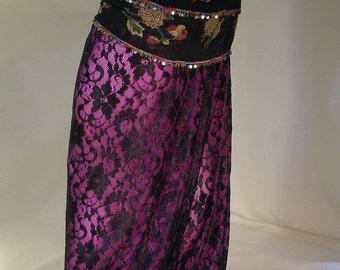 Harem Pants, Belly Dance Pants, Pantaloons, Gypsy Costume, Renaissance Costume, Ren Faire Clothing, Gypsy Belly Dance, Black Lace Harem Pant