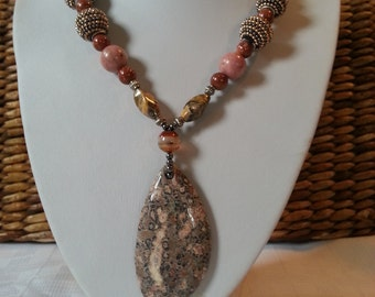 big bold chunky natural stone necklace