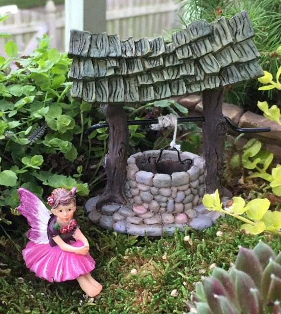 "Tiny Fairy ""Rosie"" Figurine, Fairy Garden Accessory, Garden Decor, Topper, Terrarium Accessory, Sitting Fairy Figurine"