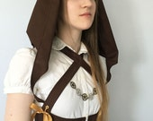 Steampunk Underbust Corset Halter- hooded cropped underbust corset steel boned, custom made, other colors available