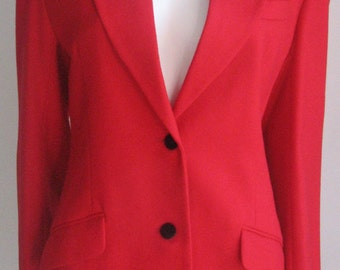 70s 80s vtg red wool  jacket