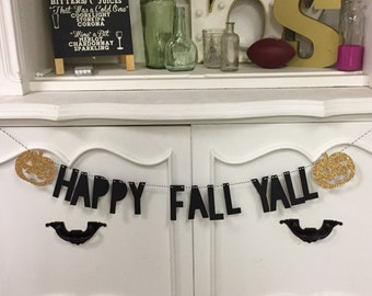 Happy Fall Yall Banner