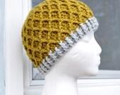 Crochet Lattice Hat - Lemongrass