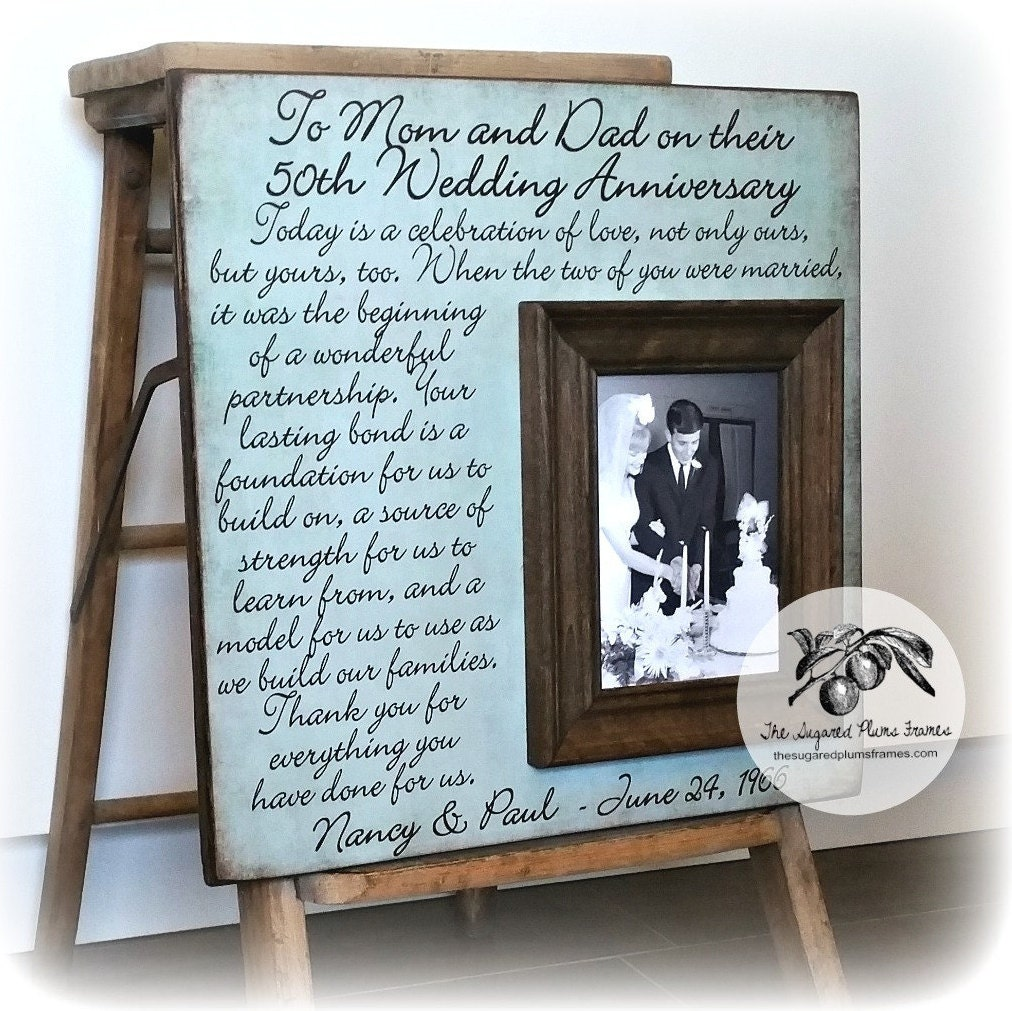 Parents 50th anniversary gifts golden anniversary for Best gifts for 50th wedding anniversary
