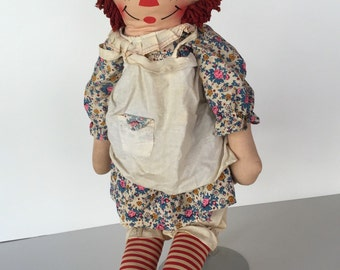 Raggedy Ann Cloth Doll Knickerbocker c.1960s By Gatormom13