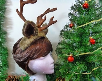 Reindeer Costume - Antler Headpiece