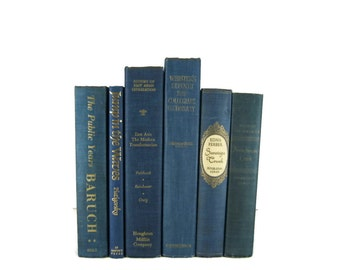 Vintage Blue   Decorative Books ,  vintage book , old book , vintage book bundle , photo prop , wedding decor , vintage book set