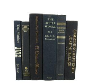 Black Decorative Books , Black Vintage Books , Home Decor , Old Books , Vintage Photo Props , Table Setting , Wedding Decor