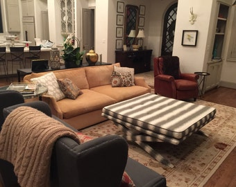 Large XBench / Coffee Table / Ottoman - Design Your Own To Suit Your Space