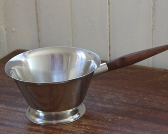 Stelton Butter Sauce Dish with wood Handle / Saucepan / Danish Modern