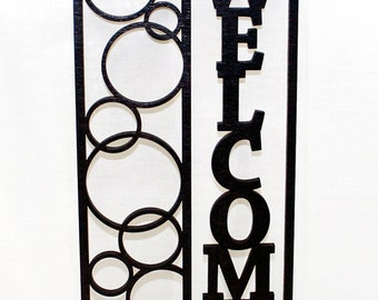 Welcome Floating Bubble Wall Art - Home Decor