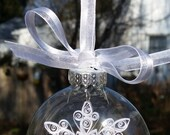 Quilling Snowflake and Snow Ornament