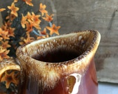 Vintage Hull Pottery Creamer Pitcher Brown Drip Glaze Oven Proof Ovenproof - #F2046
