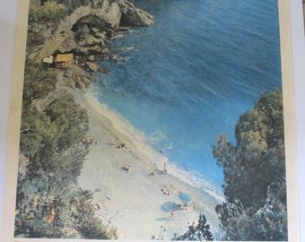 Original Vintage Italian Travel Poster La Spezia Italy - Land of Your Dreams