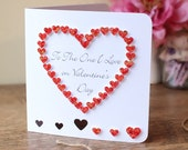 Handmade 3D Valentines Day Card, Personalised, Personalized, To The One I Love, Love Heart, Happy Valentines Day, Named, 3D, Red (BHE04c)
