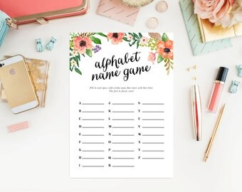 Instant Download - Boho ABC Name Game Cards