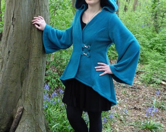 Legendary Hooded Holly Jacket - Unlined with Clasp - Medium Green and Large Petrol (Teal) only