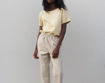 Vintage khaki trousers 90s High waist beige pants Womens trousers sz small