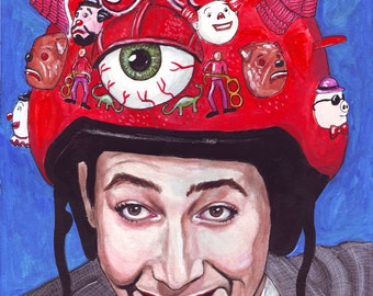 Peewee Herman print of original painting