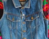 Vintage Jeanworks Denim Vest, Jean Vest