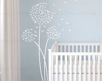 Dragonfly Dandelion Wall Decal | Custom Nursery, Childrenu0027s Room Interior  Design | Easy Squeegee Application | In An Instant Art | 124