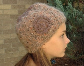 Brown Mohair Hat