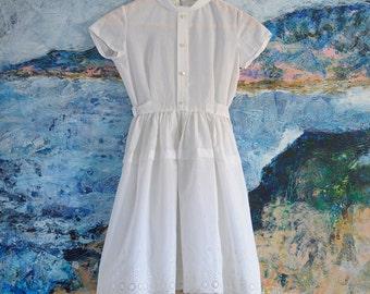 Girls Summer Dress, Girls Vintage Dress, Girls Dress, Flower Girl Dress,